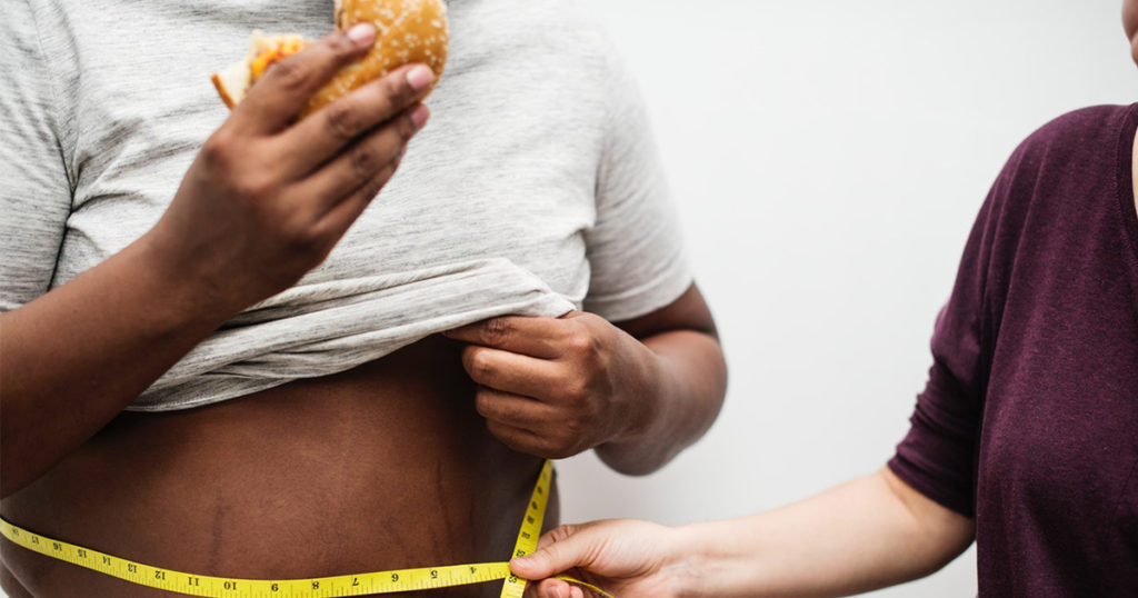 A healthy diet plan or consequences of being overweight: suit yourself